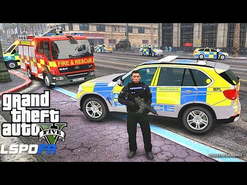 LSPDFR #603 BRITISH CO19 SO19 PATROL!! (GTA 5 REAL LIFE POLICE PC MOD)