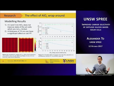 UNSW SPREE 201710-12 Alexander To - Improved carrier selectivity of diffused silicon solar cells