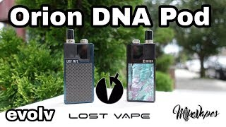 Lost Vape Orion DNA GO Chip Pod Vape Full Review- Escribe Tutorial - Mike Vapes