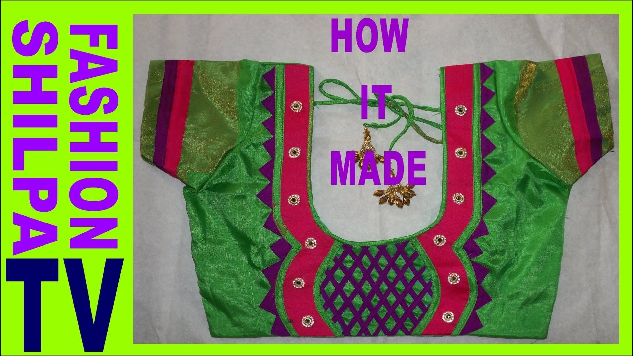 How To Make Designer Blouse At Home 50 Blouse Neck Designs Bridal Back Neck Blouse Pattern Youtube