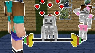 Monster School: Girls vs Boys Bodybuilding Challenge - Minecraft Animation