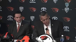 Introductory press conference for Oregon State football new head coach Jonathan Smith