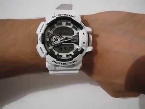 3df5791d96d CASIO G-Shock GA-400-7A - white ana-digi watch - YouTube