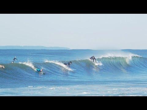 Rockaway Beach Surfers take on Irma swell. NYC surf. G85 Vivitar 200mm