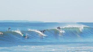 Rockaway Beach Surfers take on Irma swell. NYC surf. G85 Vivit…