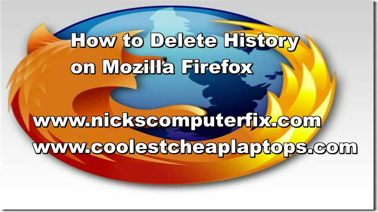 How To Delete History On Mozilla Firefox  Clear Cache!