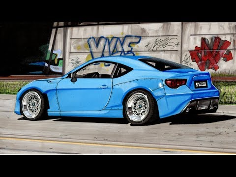Can I Draw a Car with a Background? Realistic Toyota GT86/Subaru BRZ/Scion Frs Drawing