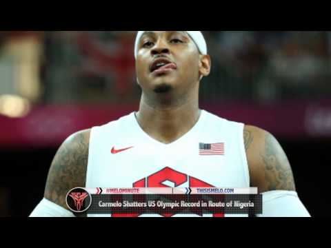 Carmelo Anthony sets U.S. Men's Olympic Record for Points