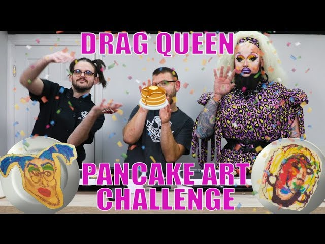 THE DANCAKES PANCAKE ART CHALLENGE - Feat. Ursula Major! 💅🥞💥