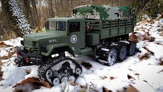 Радиоуправляемый Грузовик WPL B16 Переделка на Гусеницах