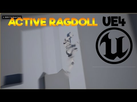 Unreal Engine 4 - Active Ragdoll - Episode 2- Falling From