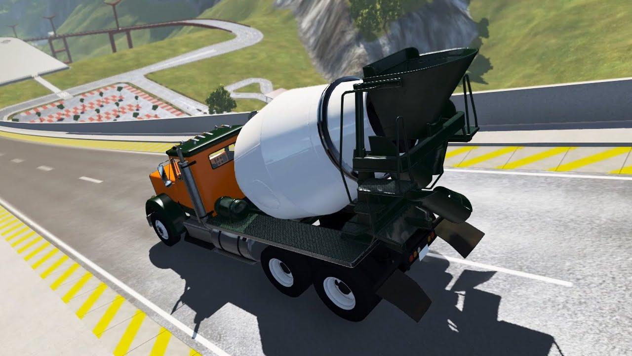 BeamNG Drive High Speed Jumps Concrete mixer & PlayerOne  l  Yüksek Hızda Atlamalar