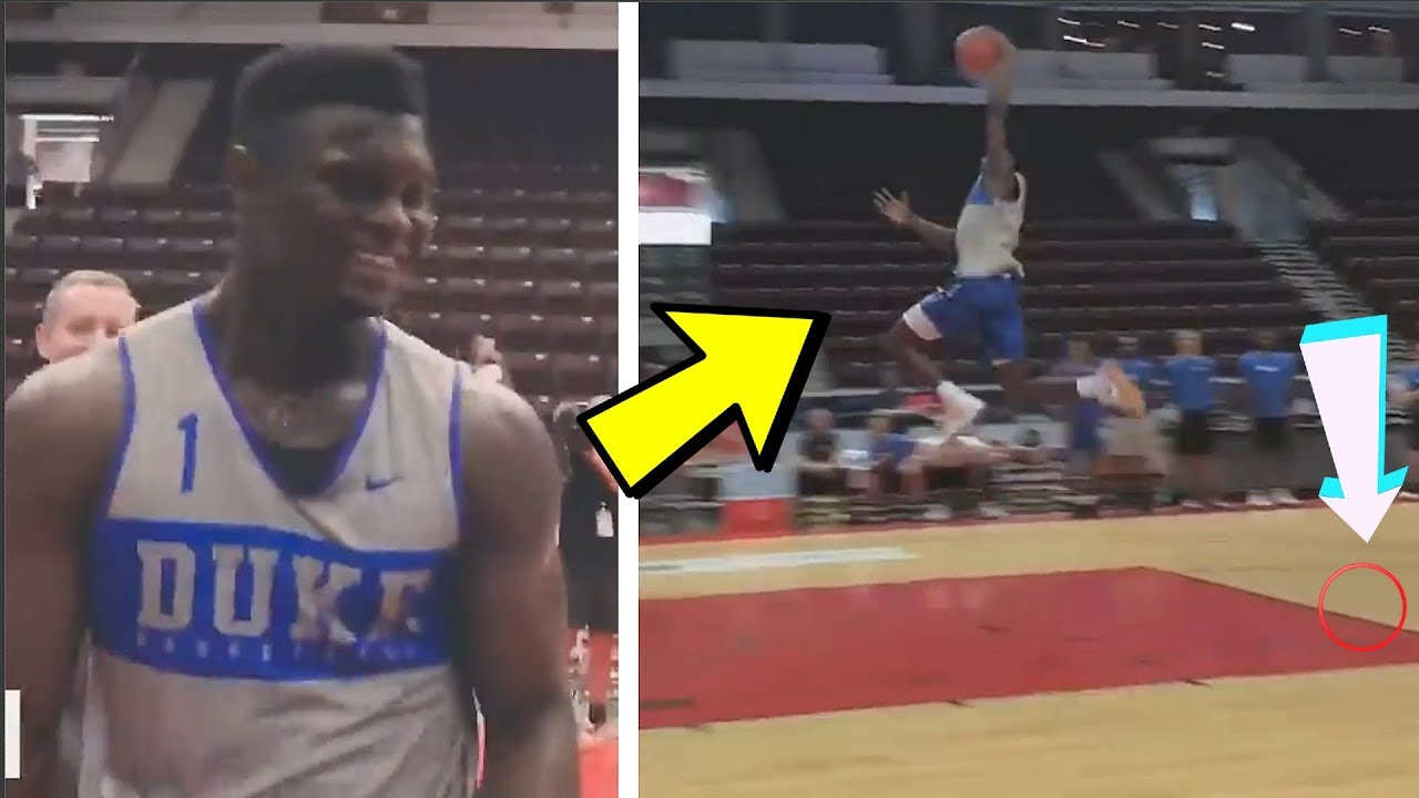 636987b90b30 ZION WILLIAMSON FREE THROW LINE DUNK VS RJ BARRETT    ZION WILLIAMSON DUKE  PRACTICE HIGHLIGHTS