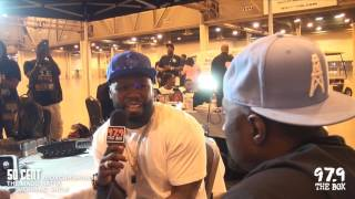 50 Cent chops it up with the Madd Hatta Morning Show at the 2016 Du...