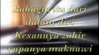 Hakikat Bahagia~~ UNIC~~ Piano Cover with lyrics.