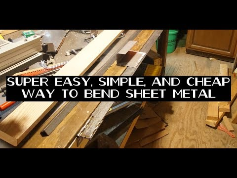 Simple yet brilliant DIY sheet metal bending brake tool, with radius bends!