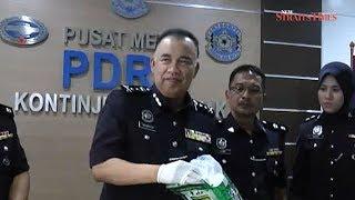 Sarawak police score biggest drug seizure with RM3.4 million worth of syabu, ecstasy