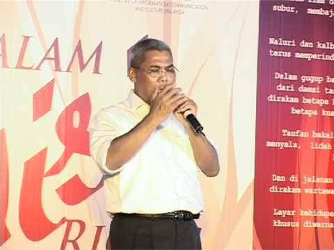 Suhaimi Mior Hassan (Misteri Cinta) di Malam Puisi Riong ITNM-BH-Istana Budaya