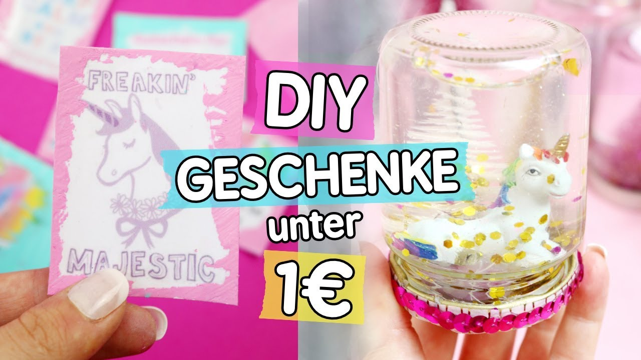 3 diy geschenke unter 1 f r weihnachten schneekugeln gutscheine und einhorn schokolade. Black Bedroom Furniture Sets. Home Design Ideas