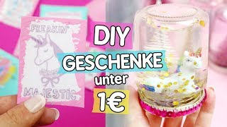 3 DIY GESCHENKE unter 1€ für WEIHNACHTEN: Schneekugeln, Gutscheine und Einhorn Schokolade 🦄
