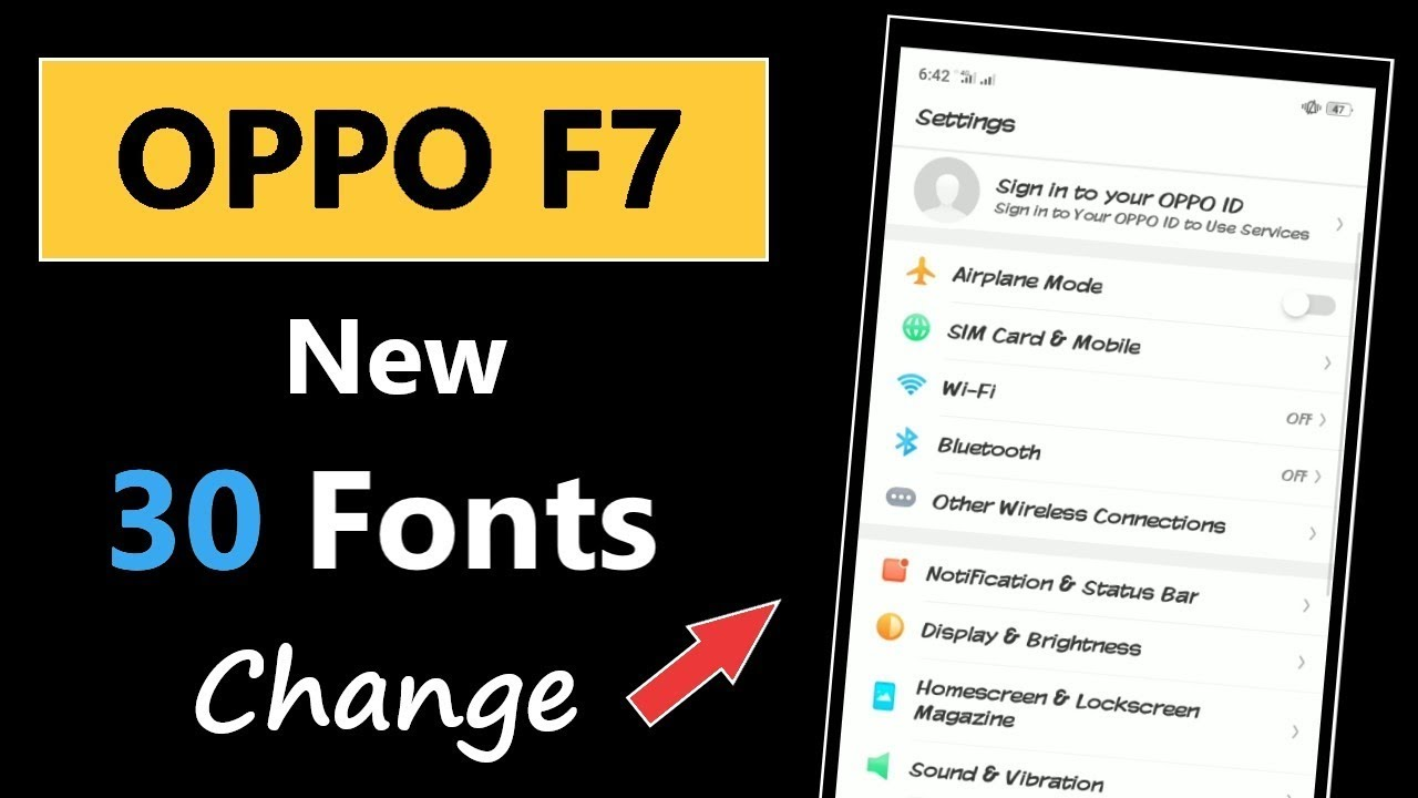 How to Change Font in Oppo F7 | Oppo F7 New 30 Fonts