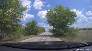 Дорога г. Вольск - с. Белогорное Саратовская область. 17 июля 2021 г. без звука
