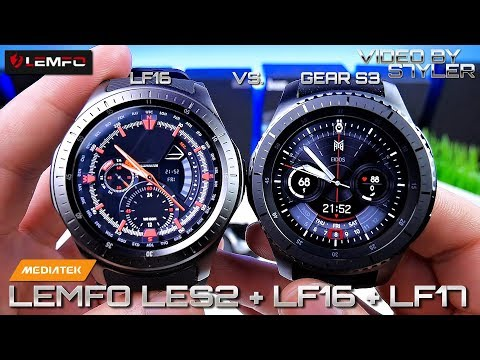 China Smartwatches? LEMFO LES2 + LF16 + LF17 ⌚ (Unboxing & Hands-on) Vs. Samsung S3 Gear Frontier