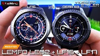 china Smartwatches? LEMFO LES2  LF16  LF17  (Unboxing & Hands-on) vs. Samsung S3 Gear Frontier