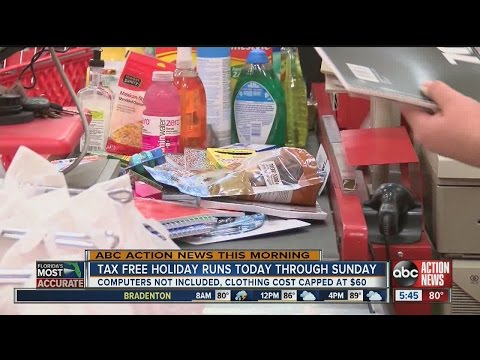 Back to school tax free holiday runs through Sunday