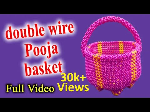 Normal knot || double wire || Pooja basket || Full Video