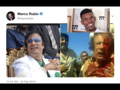 Marco Rubio Tweets Disturbing Picture of Muammar Gaddafi Despite Regime-Change Consequences In Libya