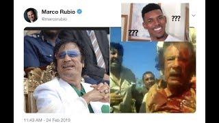 Marco Rubio Tweets Disturbing Picture of Muammar Gaddafi Despite Regime-Change Consequences In Libya