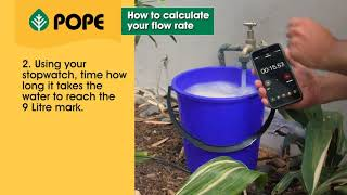 How to calculate your flow rate with the bucket test