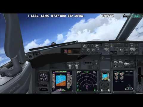 [FSX] PMDG 737 NGX | Barcelona (LEBL) to Malaga (LEMG) Part 1