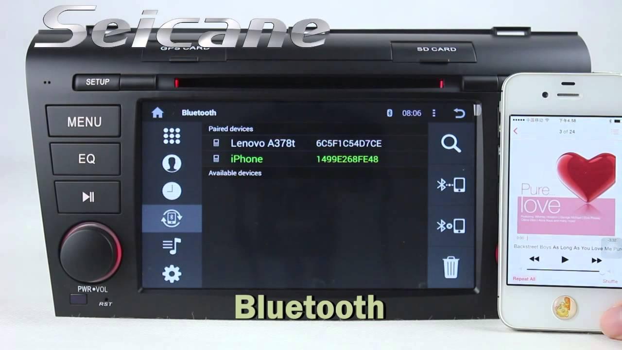 головное штатное устройство mazda 3 2008 android