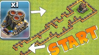 GEAR MORTAR MAZE BASE!!! | Clash Of Clans | ALL GOBLINS TROLL!!
