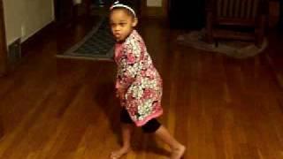 baby Girl doing stanky leg Pt2