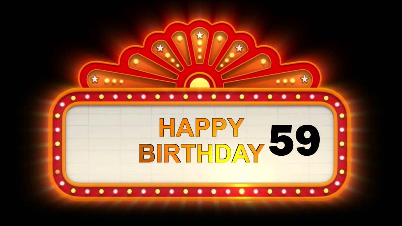 Gelukkige Verjaardag 59 Youtube