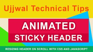 Full Screen Animated Sticky Header   Sticky Navigation Bar After