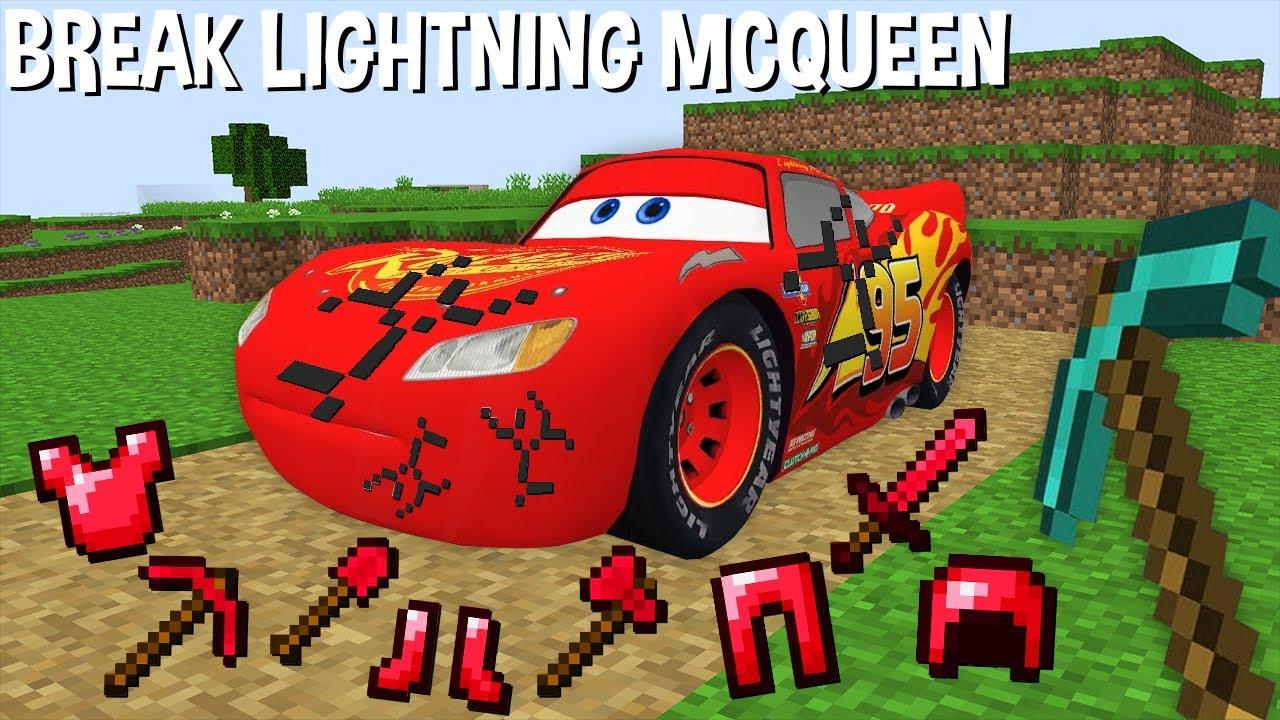 WHAT if BREAK LIGHTNING MCQUEEN in Minecraft ? STRANGEST LIGHTNING MCQUEEN !