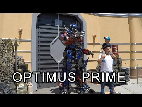 Optimus Prime the Comedian   Universal Studios Hollywood
