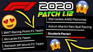 NEW F1 2020 GAME UPDATE 1.12 PERFORMANCE PATCH IS HERE! - How Much Has Ferrari Been Nerfed?!