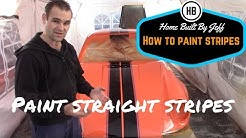 How to paint stripes on a car