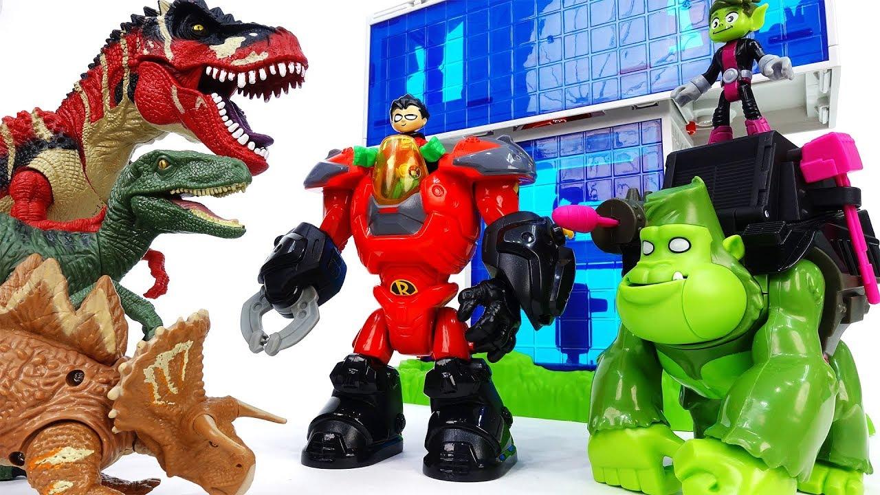 Teen Titans Go Robin Beast Boy Dinosaurs In The Teen Titans