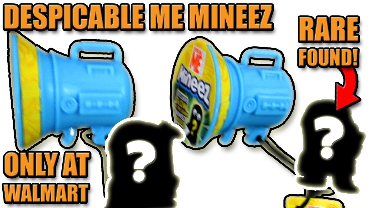 Lot of 5 Despicable Me Glow In The Dark Mineez Walmart Exclusive