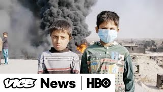 ISIS Sets Fire to Oil Wells in Qayyarah  VICE News Tonight (Full Segment)