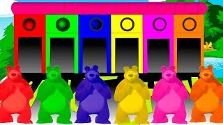 Masha And The Bear Colors for children to Learn With Colors Bear & Colours for kids to learn colors