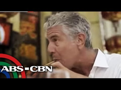 Bandila: US chef Anthony Bourdain back in Manila