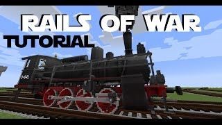 Minecraft 1.7.10 - Rails Of War Mod Tutorial - Realistic Train Mod Spotlight Showcase