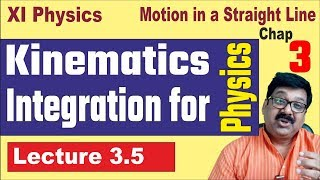 3.5, Kinematics, Integration for Physics , Mathematical tool, Calculus, arvind academy